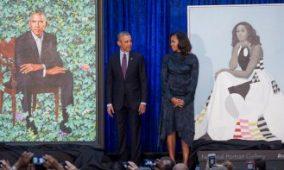 Barack y Michelle Obama presentan sus retratos en la Galería Nacional