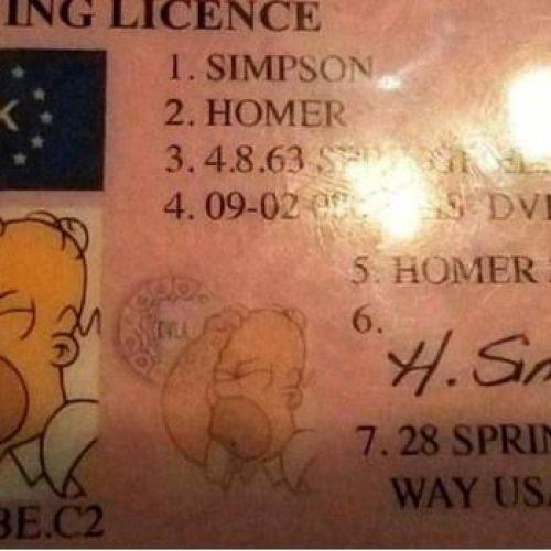 Conductor se hace pasar por Homero Simpson para librar multa