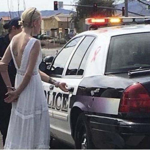 Es arrestada y deja a su novio plantado en el altar