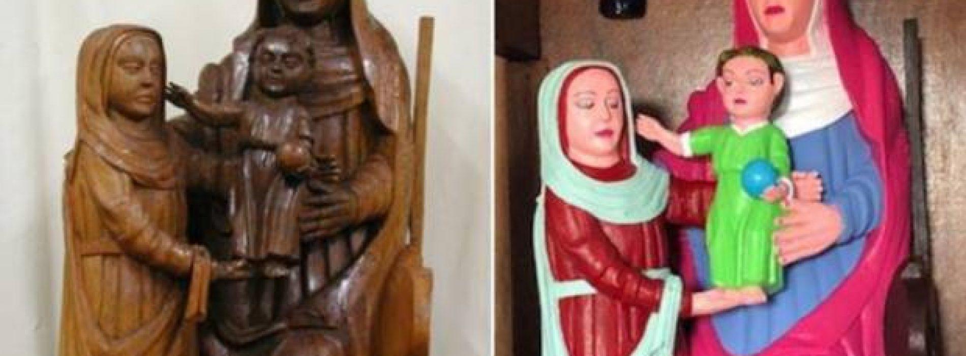 Pintó una estatua que le parecía horrenda y arruinó un tesoro del siglo XV